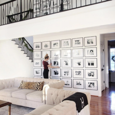 Monarch Manor: Two Story Gallery Wall